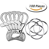 Image of Paxcoo 100 Pcs Metal Swivel Lanyard Snap Hook with Key Rings