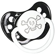 Personalized Pacifier - Skull - Black