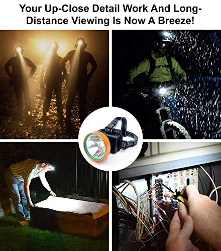 Obvie 50W Led Rechargeable Headlamp Brighter,Farther,Waterproof(2pcs Pack) by Obvie (Image #1)