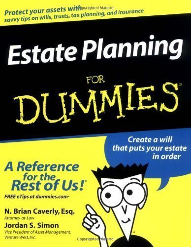 Estate Planning For Dummies by Caverly Esq., N. Brian Published by For Dummies 1st (first) edition (2003) Paperback