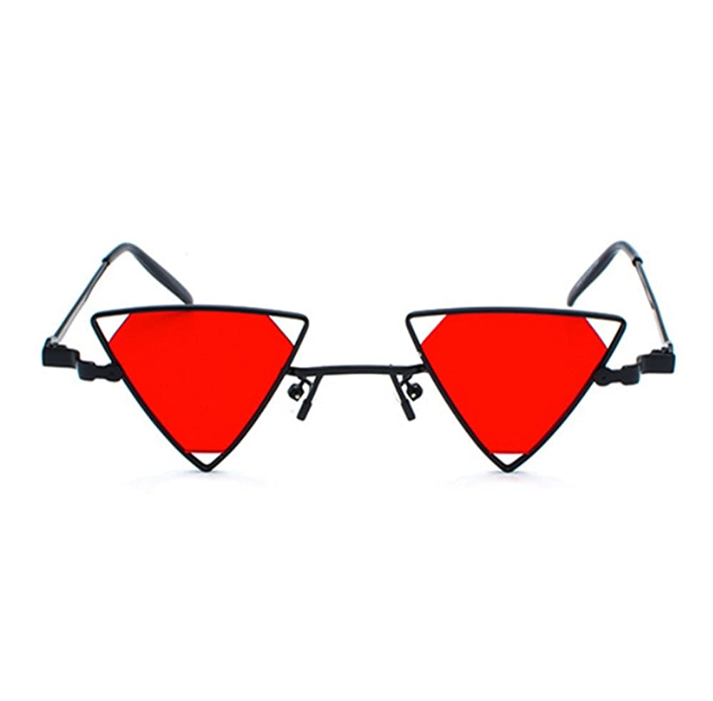 Huateng Lunettes de soleil rétro Triangle Vintage non polarisant ... f4a47b7b62e3