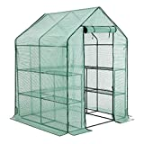 YOUKE Walk-in Greenhouse PE Cloth Cover Garden House Succulent Plants Flowers Green Plant Insulation Family (56''x56''x77'')
