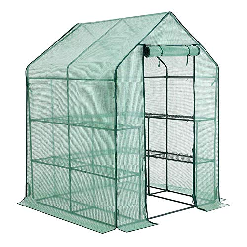 YOUKE Walk-in Greenhouse PE Cloth Cover Garden House Succulent Plants Flowers Green Plant Insulation Family (56''x56''x77'') by YOUKE