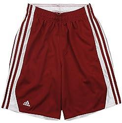 Adidas Men's Hoops Shorts (Medium, Victory Red)