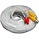 Laview LVA-ACA2125W 125 Foot All-in-One BNC Video and Power Cable with Connectors, White