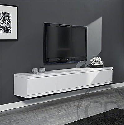 Coup de Cœur Design – Mueble para TV suspendido, blanco lacado ...