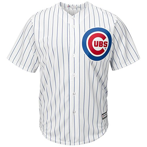 Majestic Chicago Cubs Cool Base Pinstripe Tackle Twill Baseball Jersey (XX-Large)