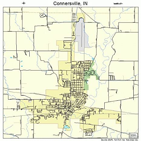 Amazon Com Large Street Road Map Of Connersville Indiana In