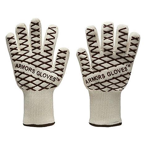 Level 5 Cut Resistance Kitchen Gloves, Kpaco EN388 Certified Ten-pin High Strength Polyethylene Steel Wire Cut Resistant Gloves(PAIR)