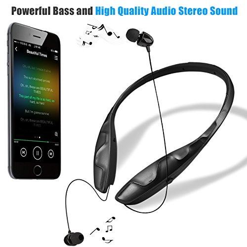 bluetooth headphones headset rymemo auto wire retraction no import it all. Black Bedroom Furniture Sets. Home Design Ideas