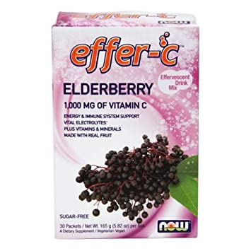 Effer-C Elderberry Sugar Free with BetterStevia and Xylitol, 30 Packets Pack of 4