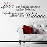 Wall Sticker Decal Mural Self Adhesive Paper Art Deco (Love Without Quote Sticker) Picture