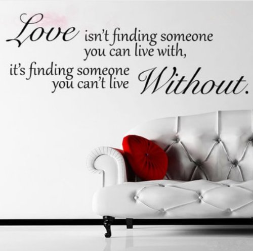 Wall Sticker Decal Mural Self Adhesive Paper Art Deco (Love Without Quote - Decals Love