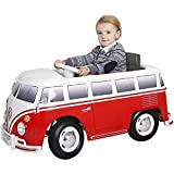 RollPlay 6V Kid's Volkswagen Bus Ride-On Vehicle