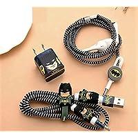 Rapidotzz 6-in-1 Multi Combo Spiral Cable Protectors + Earphones Winder + Sticker + Cable Clips + Earphone Jack Clip (Design 2)