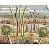 Canvas on Demand Charles Harker Wall Peel Wall Art Print Entitled Trees in Desert 24''x19''