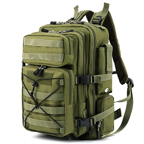 Gonex Tactical Military Backpack Rucksack, Molle Bug Out Bag Backpacks for Outdoor Hiking Camping Trekking Hunting 30L (Olive)