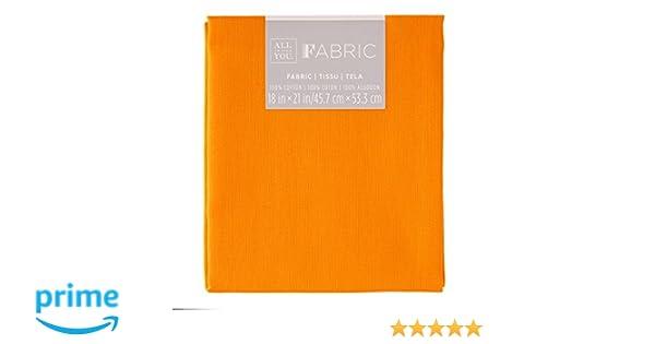 3cm Stars Poly Cotton Orange Star Fabric