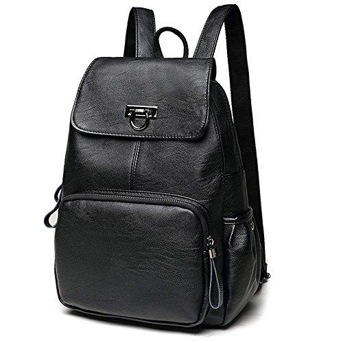 Ladies Black Backpack Purse - 9
