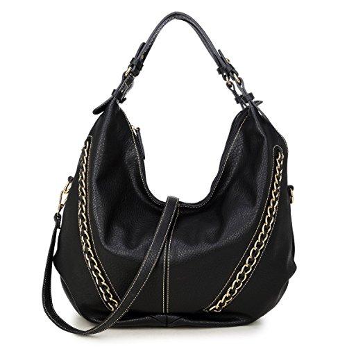 DASEIN Women Casual Hobo Shoulder Bag Soft Washed Vintage Handbags Designer Tote Purses
