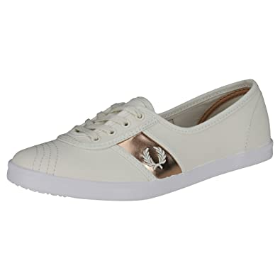 Fred Perry Aubrey Twill Trainers Natural  Amazon.co.uk  Shoes   Bags 593e7dc0a