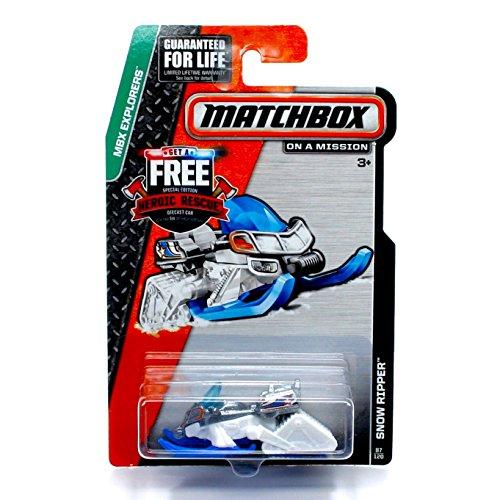 Matchbox, 2015 MBX Explorers, Snow Ripper Snow Mobile [White] 87/120 (Snowmobile Box Set)