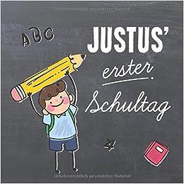 Justus Erster Schultag Kreatives Erinnerungsalbum