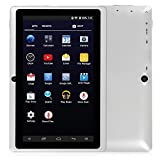 """SainSonic 7"""" inch A33 Quad Core Google Android 5.1 Lollipop Tablet PC, 512MB RAM 8GB Nand Flash, HD Display 1024*600 Resolution, Dual Camera, Bluetooth, Google Play Pre-loaded, 3D Game Supported, White"""