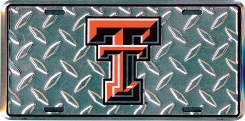 HangTime Texas Tech diamond emboss metal license plate 6 x 12