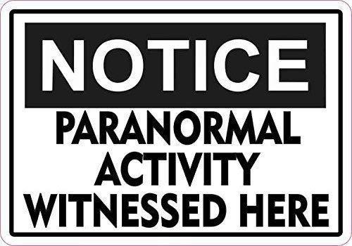 Talk Notice Paranormal Activity Halloween Sign Decorative Metal Sign for Road Tin Art Decor Aluminum Tin Sign ()