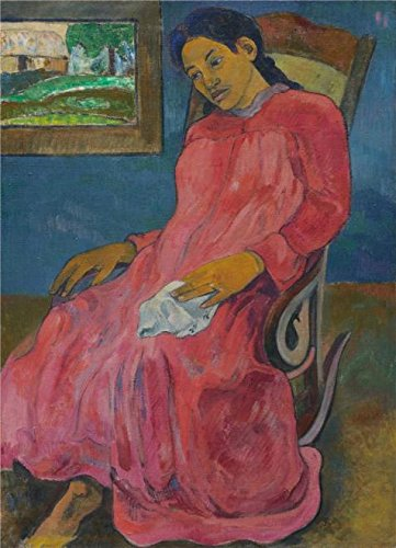 The Perfect Effect Canvas Of Oil Painting 'Woman Sitting On Rocking Chair' ,size: 10x14 Inch / 25x35 Cm ,this Art Decorative Prints On Canvas Is Fit For Garage Decor And Home Decoration And Gifts