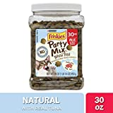 Purina Friskies Made in USA Facilities, Natural Cat Treats, Party Mix Natural YUMS with Real Tuna - 30 oz. Canister