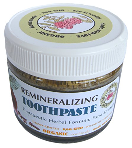 Essential Oils Herbal Toothpaste (RTB's Organic Remineralizing Toothpaste: Extra-Strength Herbal Formula (1.5oz, 2oz, or 4oz in glass jar) (Fennel, Peppermint & Clove))