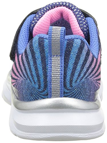 Skechers Pepsters Colorbeam - Zapatillas de deporte Niñas Azul - Bleu (Nvpk Marine/Rose)