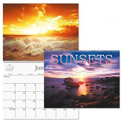 Sunset 2019 Calendar Amazon.: 2019 Sunsets Wall Calendar   12