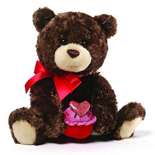 GUND Sprinkles Valentine's Day Teddy Bear Stuffed Animal Plush, Brown, 8
