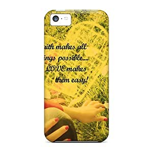 Anti-scratch And Shatterproof Love Makes Life Easy Phone Cases For Iphone 5c/ High Quality Cases