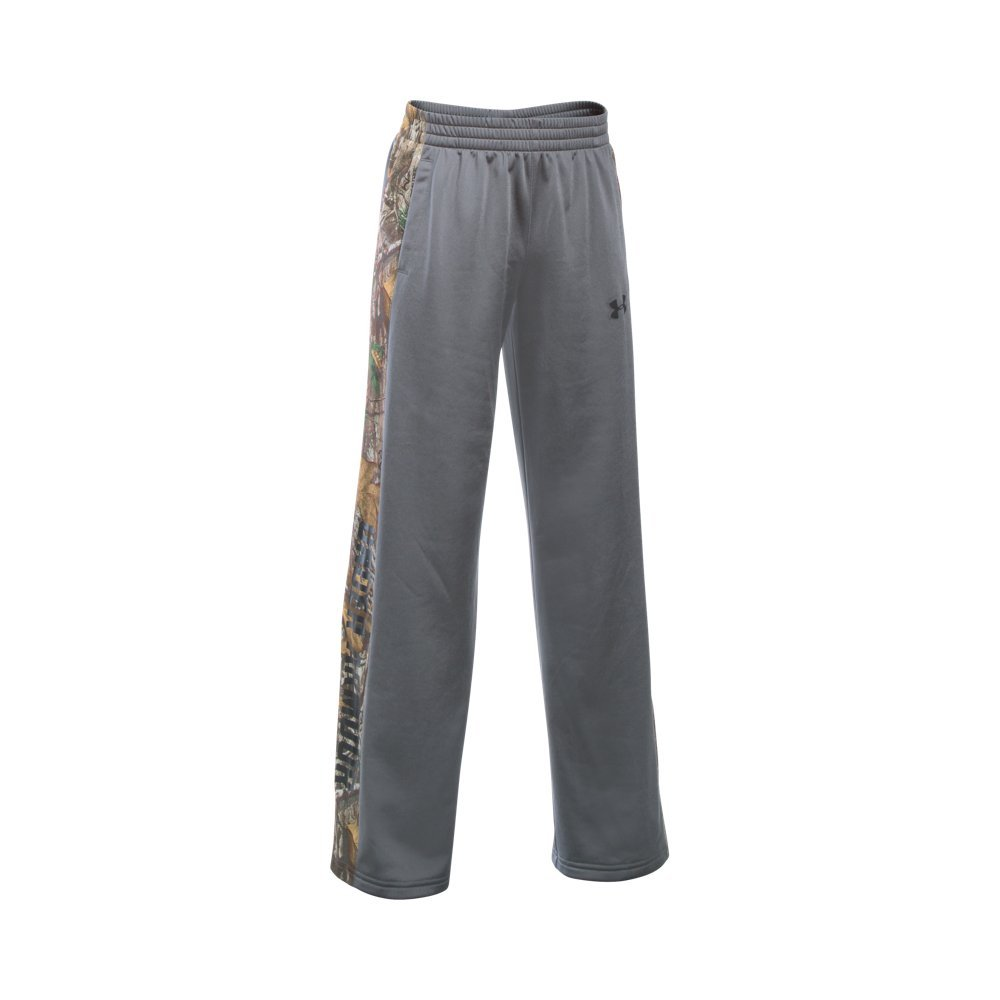 Under Armour Boys' Outdoor Brawler Pants, Graphite/Realtree Ap-Xtra, Youth X-Large