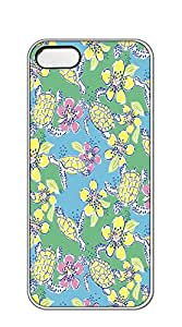 TUTU158600 Hard Case Back Custom PC iphone 5 case for girls 2d - lilly pulitzer green leafy carrot