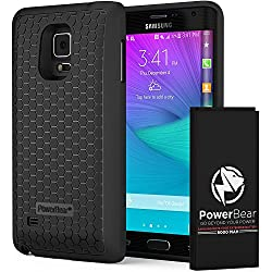 PowerBear Note Edge Extended Battery [6000mAh] UPGRADED (Up to 2X Extra Battery Power) - Black [24 Month Warranty]