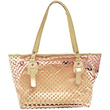 Jesdo Women's 2 in 1 Dots Clear Handbag Purse Tote Summer Beach Shoulder Sling Bag