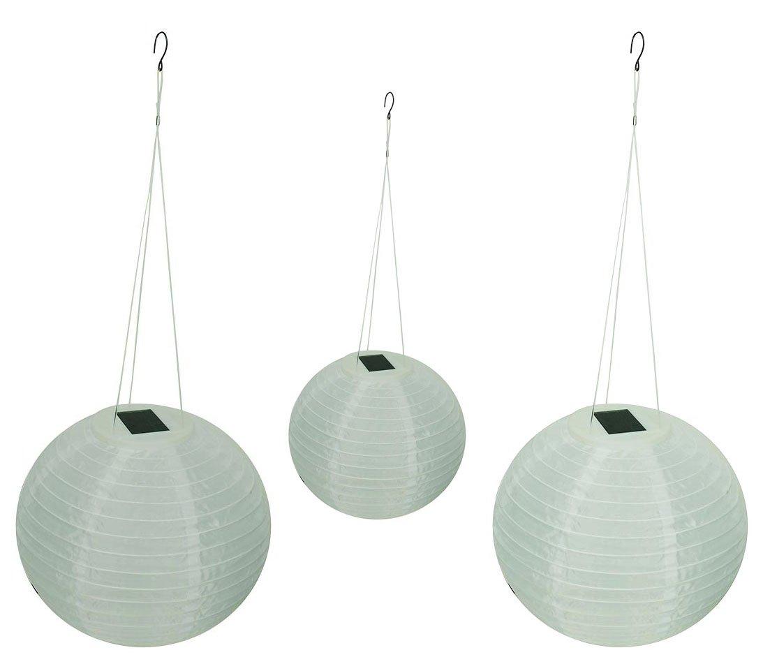 Solar Wholesale Shoji Solar Lanterns, 12'' Diameter (3 Pack)