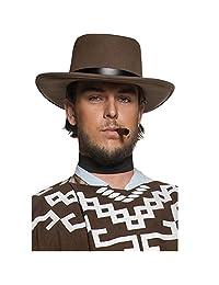 Smiffy's Men's Authentic Western Wandering Gunman Hat with Rim