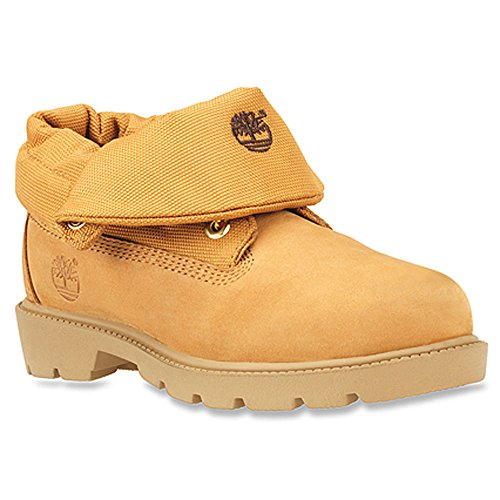 Youth Wheat Nubuck Kids Shoes (Timberland Roll-Top Single Shot Boot (Toddler/Little Kid/Big Kid), Wheat Nubuck, 7 M US Big Kid)