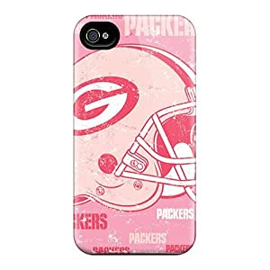 Excellent Design Green Bay Packers Phone Case For Iphone 4/4s Premium Tpu Case