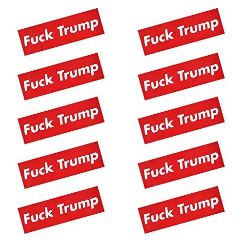 10 Pcs Fuck Trump Donald Trump Election Patriotic Bumper Sticker Auto Decal Conservative Republican (H01) ()