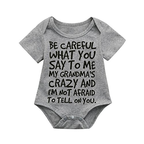 Fartido Romper Baby Girl Boy Letter Print Jumpsuit Outfits Sunsuit Clothes