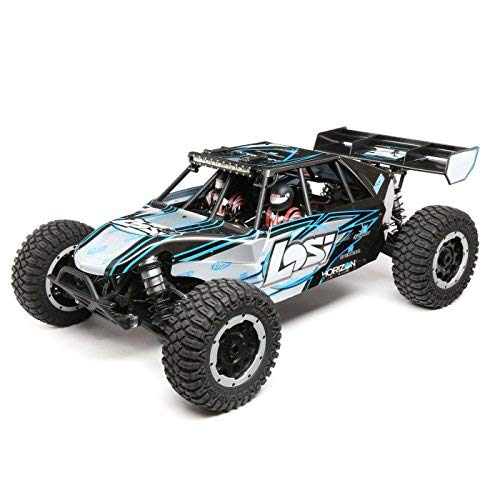 Losi DBXL-E 1/5 Scale 4WD RC Desert Buggy BL Electric RTR with DX2E 2.4GHz Radio Tx and 4-Ch DSMR AVC Receiver (Battery and Charger Not Included), LOS05012T2 (Grey/Blue)