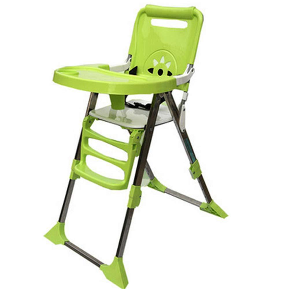 子供用テーブルと椅子 多機能子供用ダイニングチェアチャイルドシート取り外し可能な子供用ダイニングチェア 多機能子供用ハイチェア (色 : 緑)  緑 B07TT24G8T