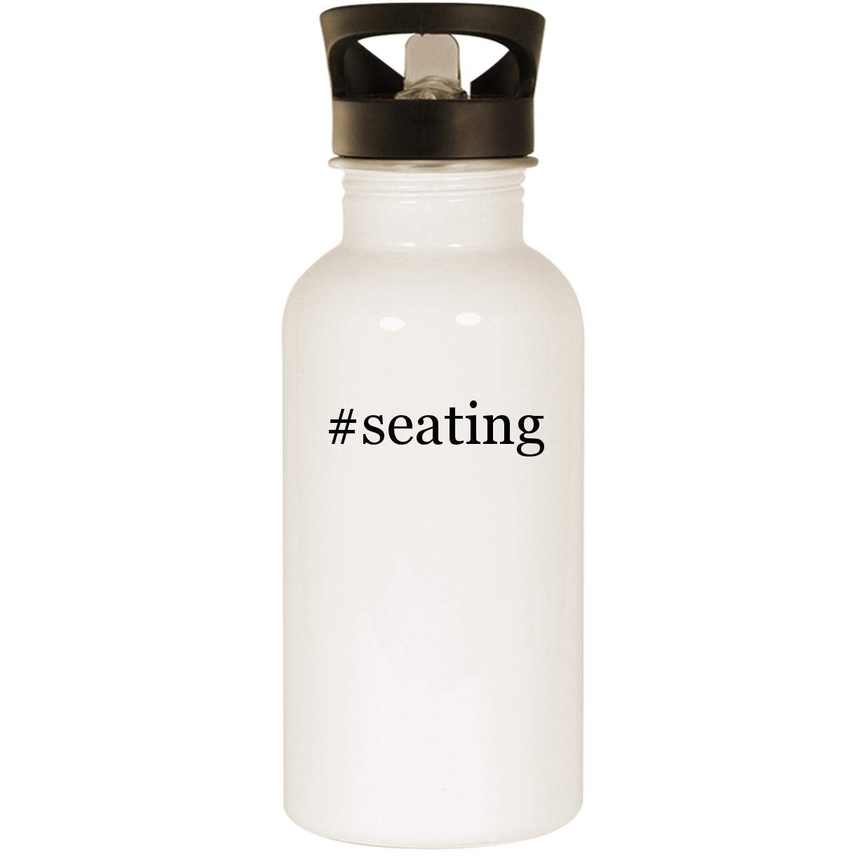 #seating - Stainless Steel 20oz Road Ready Water Bottle, White